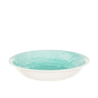 Watercolour melamine salad bowl