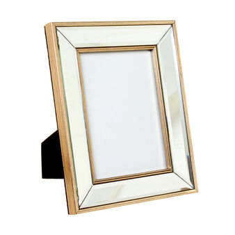 Distressed glass photo holder