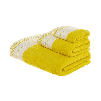 Asciugamano spugna puro cotone con raso