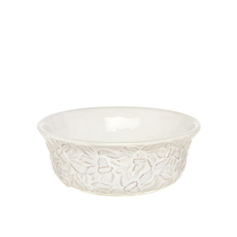 Isabel decorated ceramic dessert bowl