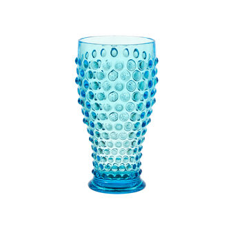 Plastic drinking glass with bubble decoration