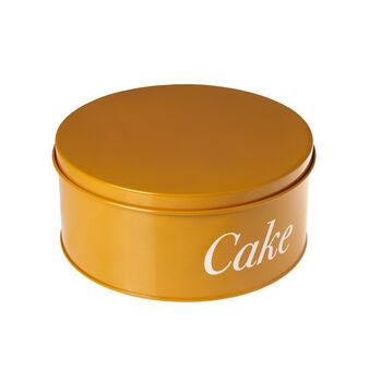 Enamelled metal cake tin