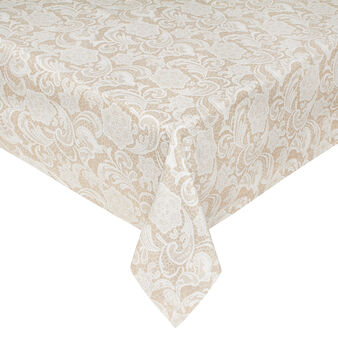 100% cotton tablecloth with Lace print