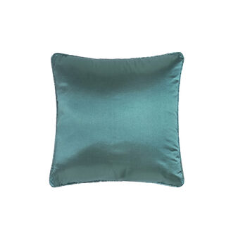 Solid colour, satin-effect cushion