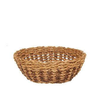 Handmade woven straw basket
