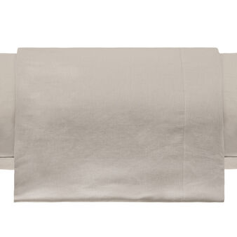 Flat double sheet in cotton and linen