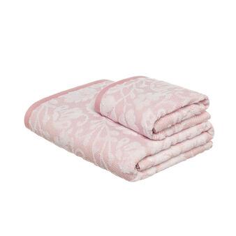 Asciugamano puro cotone jacquard floreale