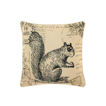 Cushion with vintage squirrel motif