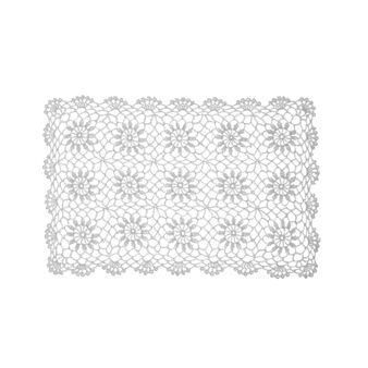 Crocheted table mat in 100% cotton