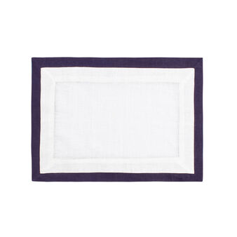 Linen and cotton table mat with edging
