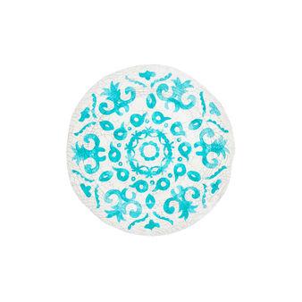 Plastic  craquelé azulejos dinner  plate