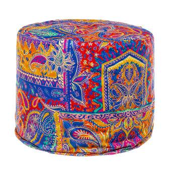 Pouf puro cotone percalle foulard
