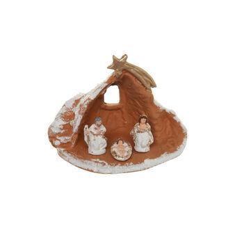 Capanna Natività in ceramica fatta a mano con stella cometa