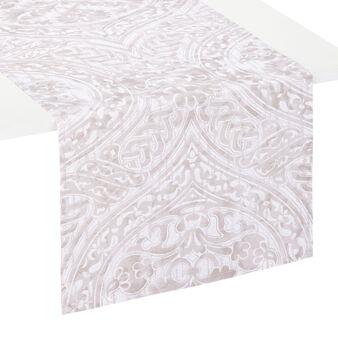 Runner puro cotone stampa damascata