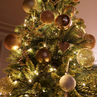 Everest Christmas tree with gold glitter effect H225 cm