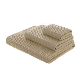 Asciugamano in puro cotone a nido d'ape