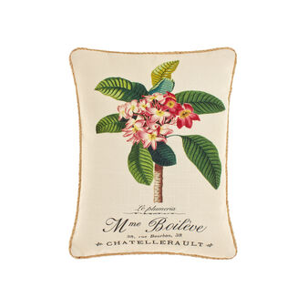 Rectangular cushion with palm print