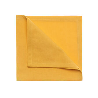Set of 4 solid colour cotton napkins