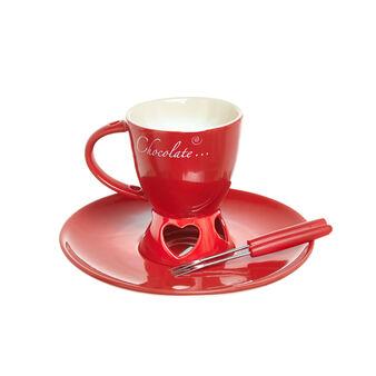 Ceramic cup chocolate fondue set