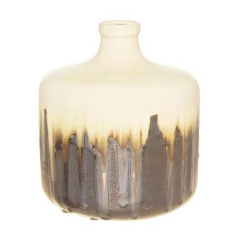 Vaso bottiglia ceramica dipinto a mano