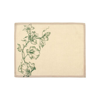 Table mat with floral print