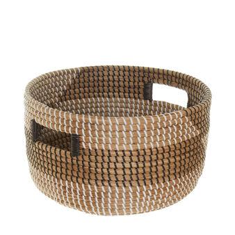 Handmade seagrass basket.