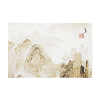 Japanese mountains canvas print