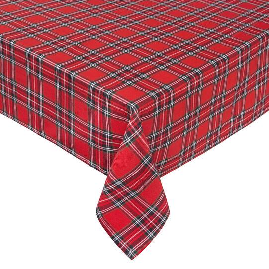 Tovaglia in puro cotone tinto in filo tartan scozzese