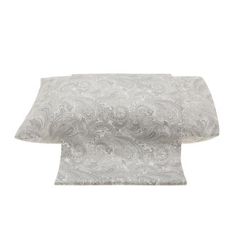 Paisley patterned flat sheet in cotton satin