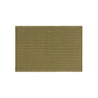 Cotton table mat with contrasting woven design