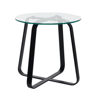 Tavolino metallo e vetro Torus
