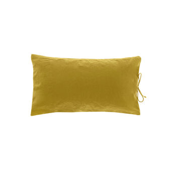 Rectangular cotton cushion with laces