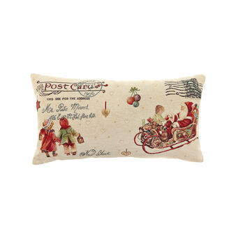 Gobelin cushion with letter to Father Christmas pattern