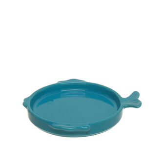 Piattino pesce stoneware