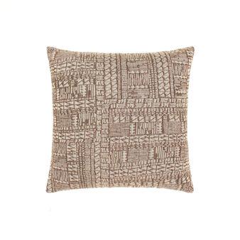 Cotton and viscose jacquard cushion