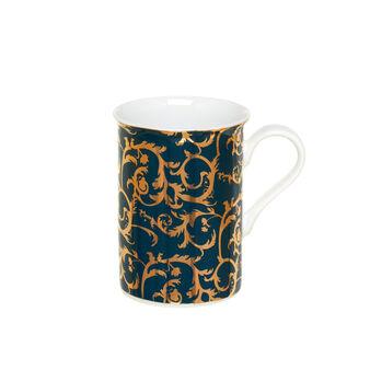 Mug in fine bone china decorata
