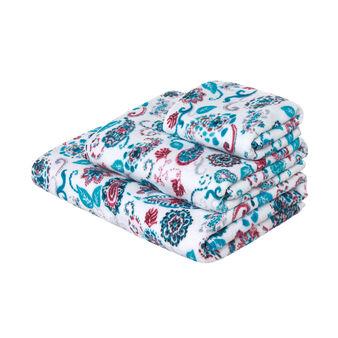 Asciugamano in spugna velour di puro cotone stampa digitale cachemire