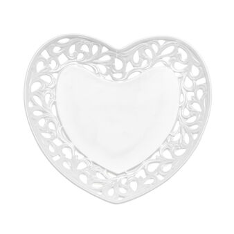 Ceramic saucer in the shape of a heart