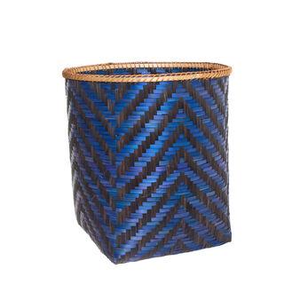 Two-tone bamboo basket