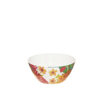 Melamine dish with floral decoration