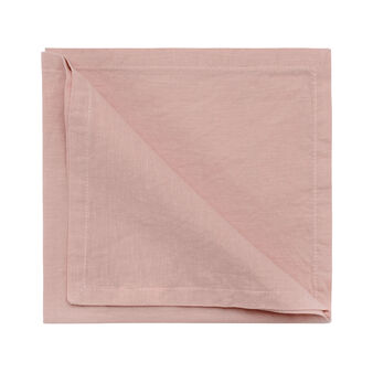 Linen and cotton napkin with soft hand