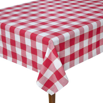 Stitched checked table cloth