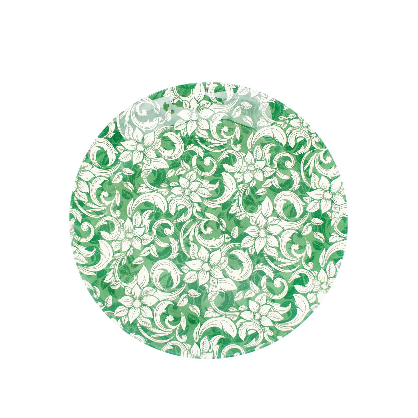 Piatto da portata in vetro decorazione floreale coincasa - Piatto da portata ...