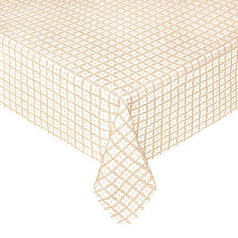 Table cover in lurex weave