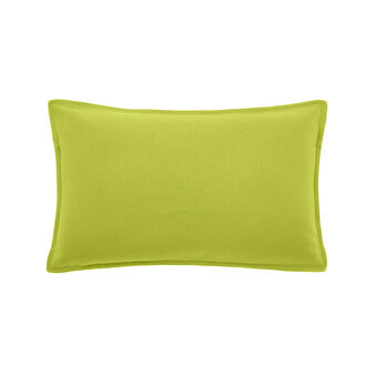 Rectangular cushion in solid colour cotton