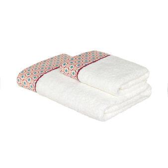 Asciugamano spugna puro cotone bordo fantasia