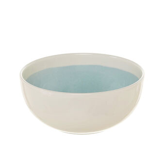 Soleil decorated ceramic salad bowl