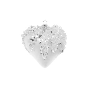 Decorazione natalizia vetro cuore D 10cm