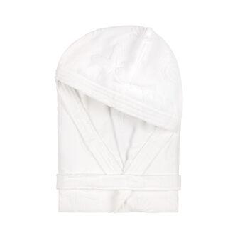 100% cotton bathrobe with marine design