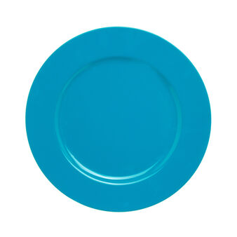 Charger plate in light blue plastic